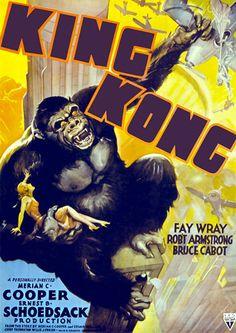 King Kong Vintage Horror Cult & Pulp Film Movie Posters Prints