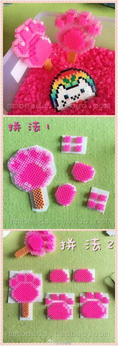 Fox paw popsicle - Zootopia perler beads