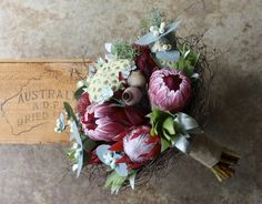 Growing and arranging beautiful Australian Native Flowers and all things Proteaceae. Protea Wedding, Wedding Bouquets, Wedding Flowers, Floral Bouquets, Floral Wreath, Boutonniere, Australian Native Flowers, Growing Flowers, Wedding Sets