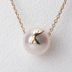 Initial pearl pendant,K,K18