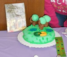 """Julia N. won for """"Most Creative"""" with her cake from The Magician's Nephew! 2013"""