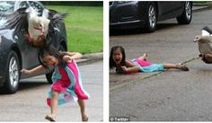 WATCHTOWERGoose Attack On Houston Girl Goes Viral: Child Helping Injured Gosling Thrown To The Ground By Angry Bird  Dont mess with mother goose! The moment girl five was attacked by a protective and VERY angry bird after she went to look at some babies  This kid learned the hard way that mother goose does NOT want you to look at her babies  This is the moment a little girl got attacked by an angry mother goose  before her older sister put the pictures online and they went extremely viral…