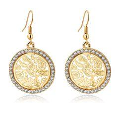 Round Hollow Fish Gold Earrings //Price: $10.95 & FREE Shipping //     #jewelry #jewels #jewel #socialenvy #PleaseForgiveMe #fashion #gems #gem #gemstone #bling #stones #stone #trendy #accessories #love #crystals #beautiful #ootd #style #fashionista #accessory #instajewelry #stylish #cute #jewelrygram #fashionjewelry