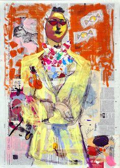 "Saatchi Online Artist: Borai & Kahne Ateliers; Paint, 2012, Mixed Media ""Bong Bong"" Original Paintings, Original Art, Single Sheets, Saatchi Online, Mixed Media Painting, Bongs, Artwork Online, Saatchi Art, Collage"