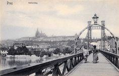 řetêzovy most císaře Františka Old Photos, Vintage Photos, Prague Photos, Old Paintings, History Photos, Street Photo, More Pictures, Czech Republic, Old Town