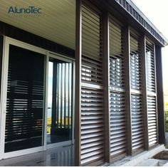 External Sliding Aluminium Shutter Interior Sliding Shutter for Windows - China Shutter, Shutter Louver Louvered Shutters, Interior Window Shutters, Interior Windows, Aluminium Shutters, Outdoor Shutters, Outdoor Blinds, Outdoor Rooms, Sliding Wall, Sliding Windows