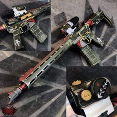 Highly custom AR with cerakoting performed by Valkyrie Combat.