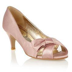 Pale Pink Mid Heel Shoes | Tsaa Heel