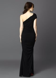 Maxi cocktail dress in black_