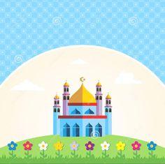 91  Gambar Masjid Cantik Kartun Paling Keren
