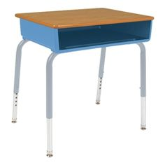 Virco 785 Series Open Front School Desk - Plastic Book Box - Solid Plastic Top https://www.schooloutfitters.com/catalog/product_info/pfam_id/PFAM1646/products_id/PRO4761