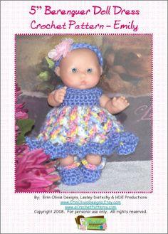 5 Inch Berenguer Doll Dress Crochet Pattern