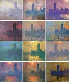 Claude Monet.Serie del Parlamento inglés.1900-1904