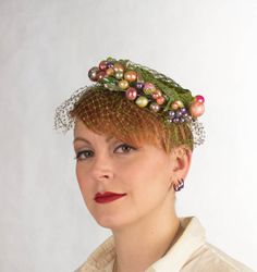 Vintage Fascinator 1950s Hat Bridal Headpiece by FlatironVintage, $50.00