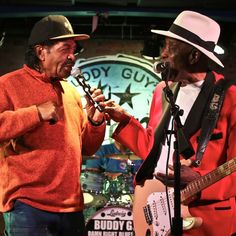 Tonights special guest: BOBBY RUSH! Here he is getting down with the boss @TheRealBuddyGuy #Blues #legends #ThatsWhyTheyCallitLegends