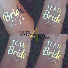 Set of 16 bachelorette party favor, bachelorette tattoo, team bride, bridal party, bridesmaid tattoo, bride, hens party ** SHIPS IN 24 HOURS