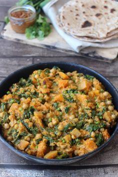Curry de pois chiche et de courge butternut