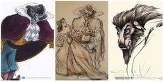 Original concept designs for Disney characters - Imgur