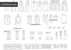 Clothes - free AutoCAD Blocks