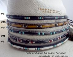 Horsehair hat band. Cowboy hat horsehair hat band hand-mde, Love This new Boned incert trimmed Horse hair tassel hatband hand-made SALE