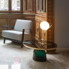 IC T1 - Table Lamp by FLOS, Brushed Brass