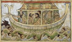 Noah and the Ark, from the Winchester Psalter