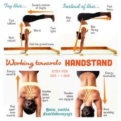 Handstand drill tutorial to strengthen your practice. Check the post on Instagram @miss_sunitha for more detailed descriptions or use #sunithalovesyoga