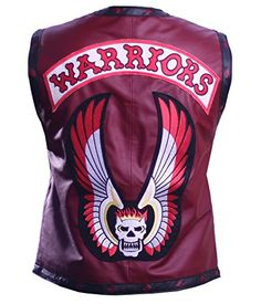 Maroon The Warriors Movie Genuine Leather Vest ►Be...