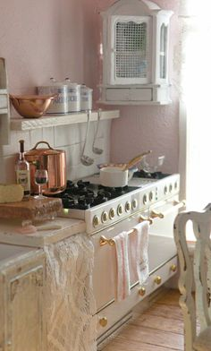 Pink Shabby Kitchen