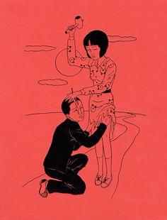 The Macabre Porn Art by Toshio Saeki Japanese Illustration, Illustration Art, Ero Guro, Grafiti, Arte Obscura, Art Japonais, Art Anime, Arte Horror, Wow Art