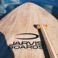Paddle boarding wood SUP on Lady Bird lake in  Austin, TX
