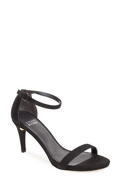 Free shipping and returns on Stuart Weitzman 'Nunaked' Leather Ankle Strap Sandal (Women) at Nordstrom.com. Slim straps extend the contemporary, minimalist elegance of an essential high-heel sandal that easily makes the transition from office to evening wear.