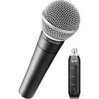 Shure X2u - XLR to USB Microphone Signal Adapter and SM58 Microphone Bundle $199.00