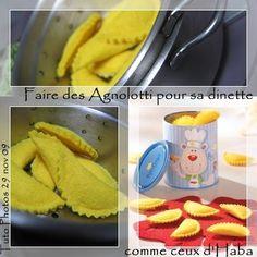 Pâtes Raviolis en feutrine - Tuto Dinette - - Que Cache Ma Boite à Belette ?