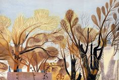 Jill McElmurry: Elms, 2014. Limited colour palette illustration