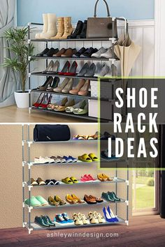 47 Awesome Shoe Rack Ideas (Concepts for Storing Your Shoes) Shoe Rack Ideas – Whether you have a magnificent shoe collection, or simply a great deal of feet in your house, a shoe organizer option is e # Wood Shoe Rack, Diy Shoe Rack, Shoe Racks, Fabric Storage Boxes, Shoe Storage, Storage Ideas, Playroom Storage, Corner Storage, Cheap Kitchen Cabinets