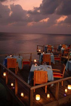 Evening at Aqua in Coco Bodu Hithi.enjoying the meal superb service with elegant ambience