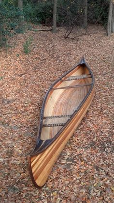 "Making a wooden canoe is a bucket list item for me. This one is gorgeous. First I have to finish the bucket list item of ""write a book."""