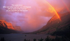 Rainbows and clouds over Saint Mary Lake and Wild Goose Island in Glacier National Park, Montana.