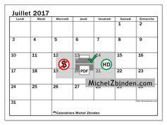 Calendrier à imprimer juillet 2017 - Tiberius - France
