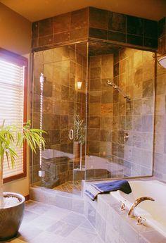Love the tile-Ceramic Tile Shower Installation   Bellevue Contractor   Peek Tile