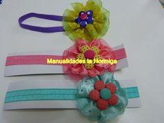 Rosetones en cinta gros y encaje para decorar balacas para el cabello. Hair flowers - YouTube