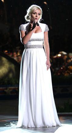 Beautiful dress!!! Katherine Jenkins.