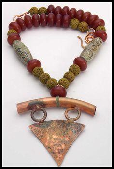 KALI++Handforged+Pendant++Handmade+Resin+by+sandrawebsterjewelry