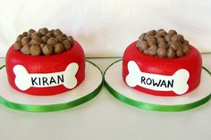"Smash cake - Fondant with butter cream ""kibble"""