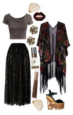 New moda hippie outfits kimonos Ideas Hippie Goth, Hippie Stil, Moda Hippie, Hippie Bohemian, Dark Bohemian, Bohemian Hair, Bohemian Style Clothing, Vintage Hippie, Nu Goth