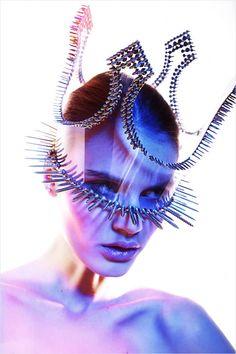 "Sci-Fi fashion: Lounge mag, issue 49 2013-03 ""Fit"" • Neva Models: Nicole • stylist: Wojciech Szymanski • hair: Dorota Kumosinska • photo: Maciej Bernas"