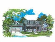 Floor Plans AFLFPW26093 - 1 Story Country Home with 3 Bedrooms, 2 Bathrooms and 1,648 total Square Feet