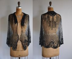 vintage 1920s sequin cape