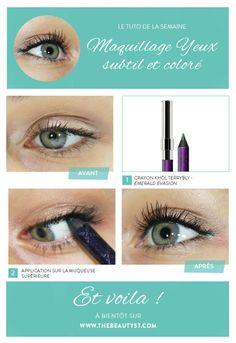 Tuto : maquillage yeux coloré et subtil